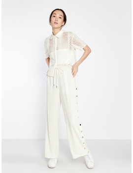 Rika Side Snap Trousers   White by Pomelo
