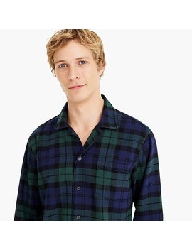 Flannel Pajama Set In Black Watch Plaid by J.Crew