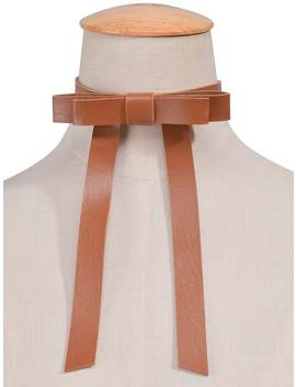 Vintage Faux Leather Bows Choker Necklace by Gamiss
