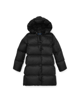 Long Hooded Down Jacket by Ralph Lauren