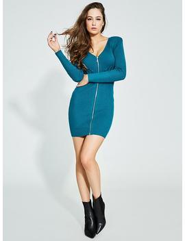 Glitz Lace Up Sweater Dress by Guess