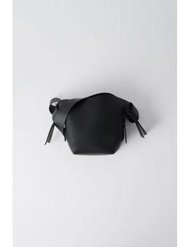 Kleine Lederhandtasche Schwarz by Acne Studios