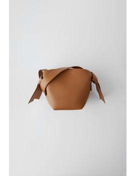 Kleine Lederhandtasche Braun by Acne Studios