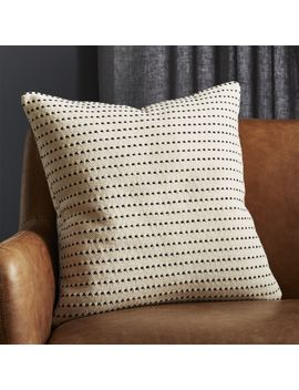 """20"""" Clique Black And White Pillow With Down Alternative Insert by Crate&Barrel"""