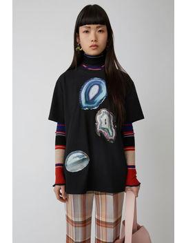 T Shirt Mit Print Schwarz by Acne Studios