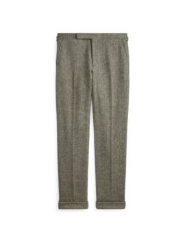 Wool Herringbone Suit Trouser by Ralph Lauren