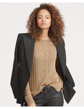 Metallic Cable Sweater by Ralph Lauren
