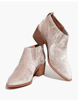 The Grayson Chelsea Boot In Velvet by Madewell