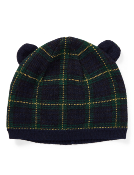 Plaid Bear Hat by Ralph Lauren