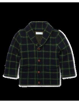 Tartan Merino Wool Cardigan by Ralph Lauren