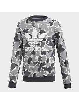 Camo Trefoil Crew Sweatshirt by Adidas
