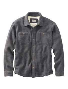 Katahdin Iron Works Bonded Waffle Fleece, Shirt Jac by L.L.Bean