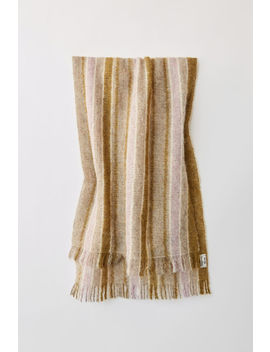 Wool Blend Scarf Lilac/Green by Acne Studios