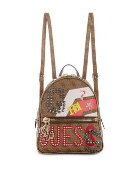 Urban Chic Logo Print Small Backpack by Guess