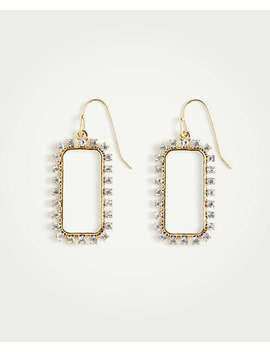 Pave Rectangle Earrings by Ann Taylor