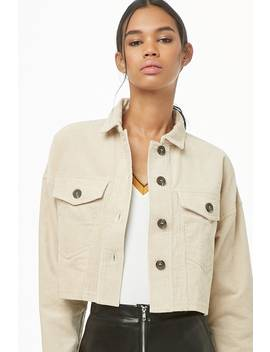 Cropped Corduroy Jacket by Forever 21