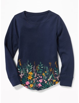 Thermal Knit Scoop Neck Tee For Girls by Old Navy
