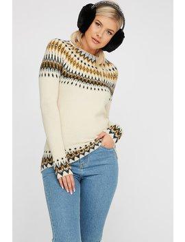 Soft Knit Fair Isle Printed Sweater by Urban Planet