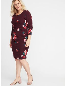 Jersey Scoop Neck Plus Size Bodycon Dress by Old Navy