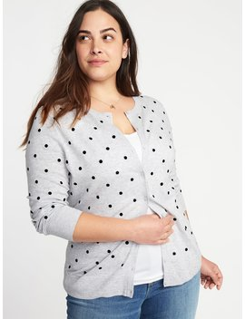 Embroidered Polka Dot Plus Size Cardi by Old Navy