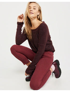 Bow Back Crewneck Sweater by Abercrombie & Fitch