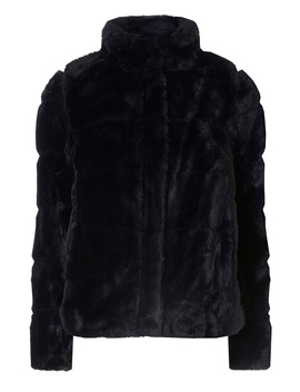 Petite Midnight Navy Faux Fur Coat by Dorothy Perkins