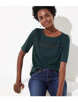 Cutout Vintage Soft Tee by Loft