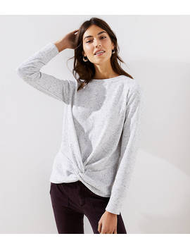 Speckled Twist Sweatshirt by Loft