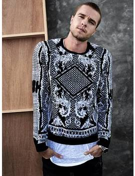 Dawson Brocade Sweater by Guess
