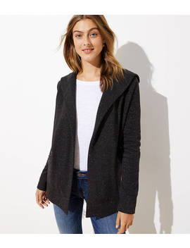Speckled Open Hoodie Jacket by Loft