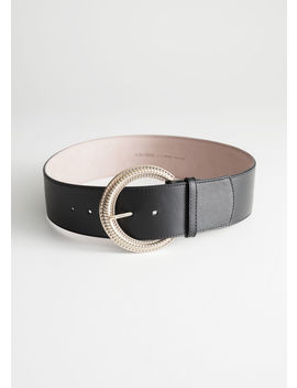 Embossed Buckle Belt by & Other Stories