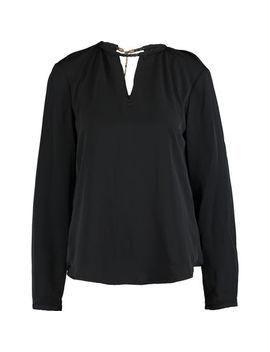 Black Keyhole Long Sleeve Top by Lauren Ralph Lauren