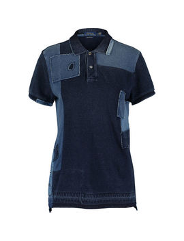 Denim Blue Patchwork Polo Shirt by Polo Ralph Lauren