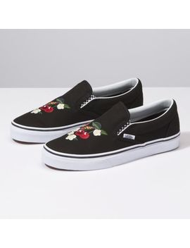 Checker Floral Classics Slip On by Vans