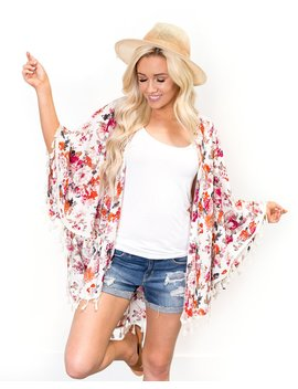 Garden Party Swing Kimono by Cents Of Style
