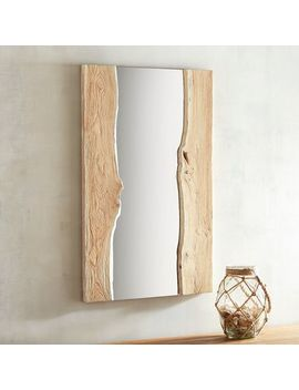 Shipwrecked 25x40 Wood Framed Mirror by Pier1 Imports