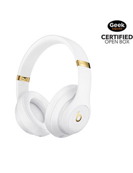Beats By Dr. Dre Studio 3 Over Ear Sound Isolating Bluetooth Headphones   White   Open Box by Apple