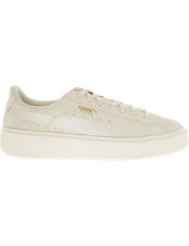 Suede Cream Trainers by Puma