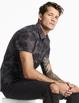 Hibiscus Floral Shirt by Lucky Brand