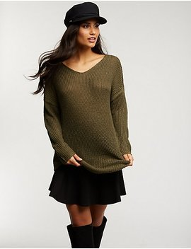 V Neck Sweatshirt by Charlotte Russe