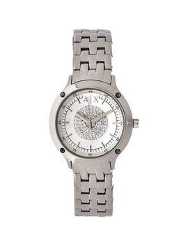 Silver Tone Diamanté Analogue Watch by Armani Exchange