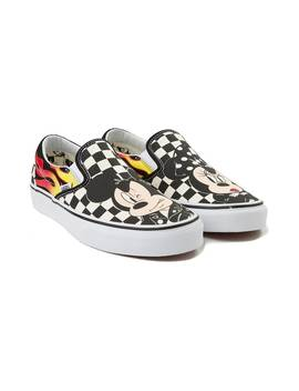 Disney X Vans Slip On Chex Skate Shoe by Vans