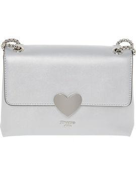 Silver Heart Cross Body Bag by Dune