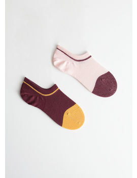 Two Pack Glitter Invisible Socks by & Other Stories