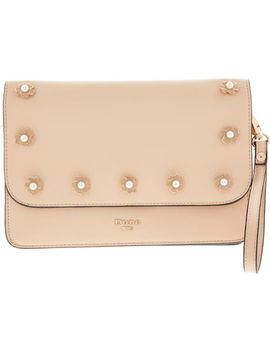 Nude Floral Clutch Bag by Dune