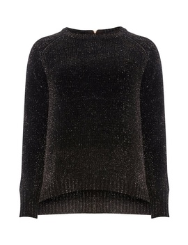 Black Tinsel Jumper by Dorothy Perkins
