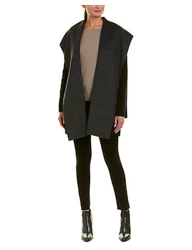 Vince Hooded Wool Blend Coat by Vince