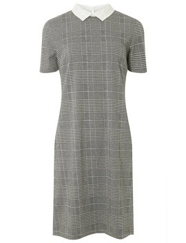 **Tall Grey Pearl Collar Shift Dress by Dorothy Perkins