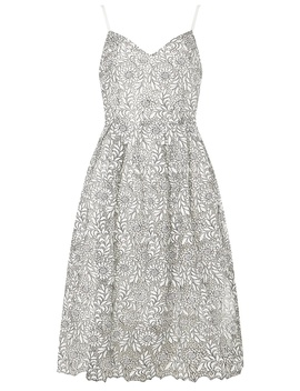 Monochrome Lace Prom Dress by Dorothy Perkins