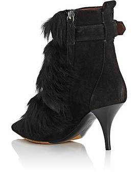 Zina Suede & Shearling Ankle Boots by Tabitha Simmons